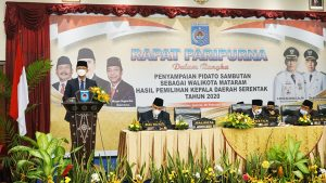 Pidato Pertama Walikota Mataram Periode 2021-2026 Pada Sidang Paripurna DPRD Kota Mataram