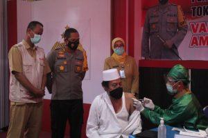 Lakukan Vaksinasi Tokoh Lintas Agama di Lobar, Polres Lobar Banjir Pujian