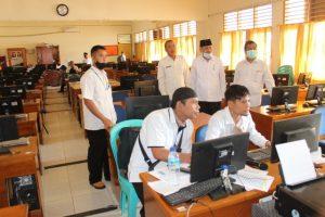 Kakakemenag Kab.Sumbawa Monitoring Pelaksanaan Ujian Madrasah Tahun Pelajaran 2020/2021