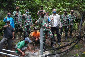Penuhi Kebutuhan Air Bersih, Danrem 162/WB Cek Pembangunan Pompa Hidram