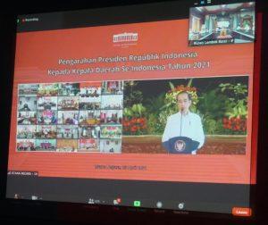 Arahan Presiden Joko Widodo Kepada Kepala Daerah Jelang Idul Fitri 1442 H. Secara Virtual.