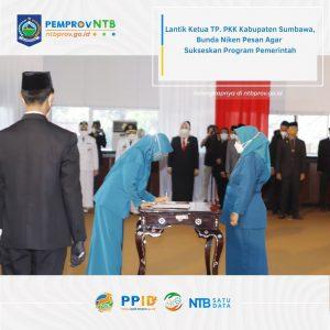 Pelantikan Ketua TP.PKK Kabupaten Sumbawa Masa Bakti tahun 2021-2026