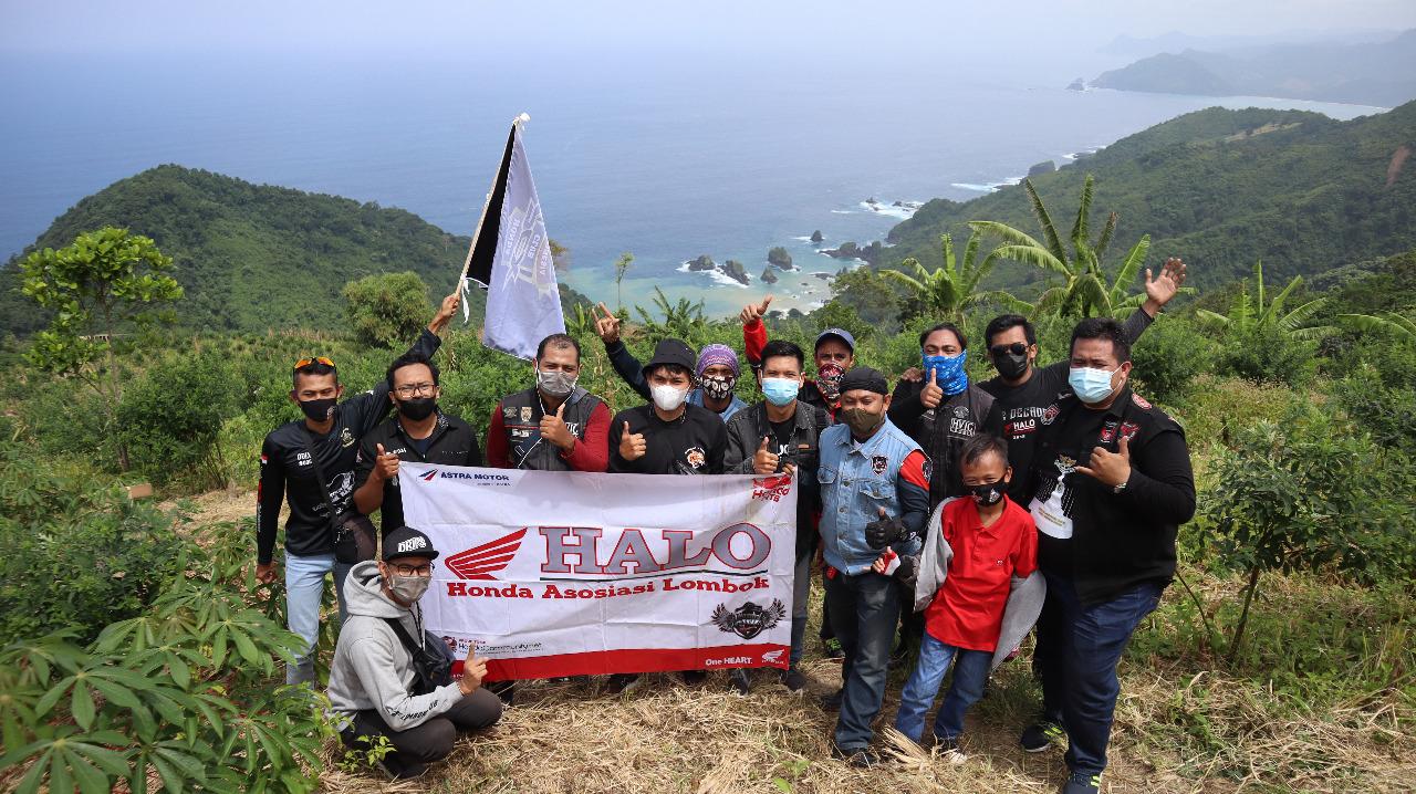 Meriahkan HUT Lombok Barat ke 63, Komunitas Honda Ikut Tanam 10.000 Pohon