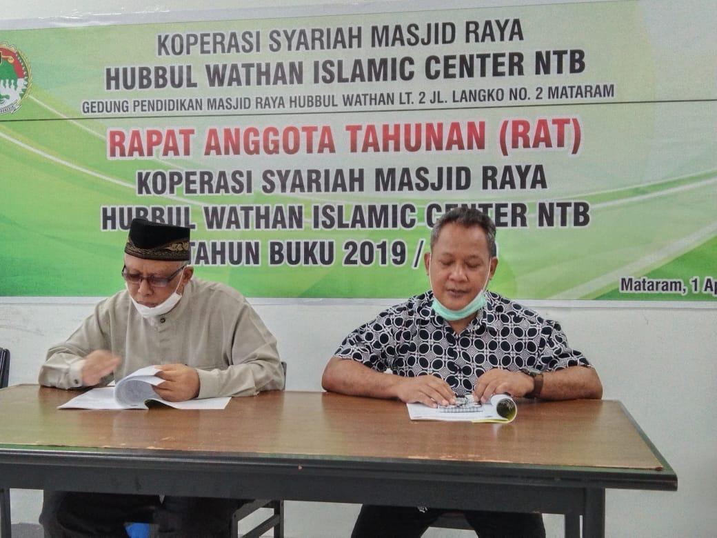 RAT Koperasi Syariah Masjid Raya Hubbul Wathan Islamic Center NTB Tahun Buku 2019-2020