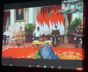 Presiden Jokowi Beri Arahan Kepada Kepala Daerah Seluruh Indonesia secara Virtual