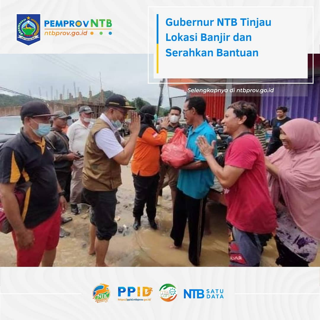 Gubernur NTB Melakukan Peninjauan Lokasi Terdampak Banjir di Kab.Bima