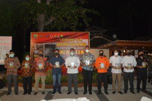 Danrem 162/WB Lounching Buku Mempolong Merenten Rehab Rekon Gempa Lombok