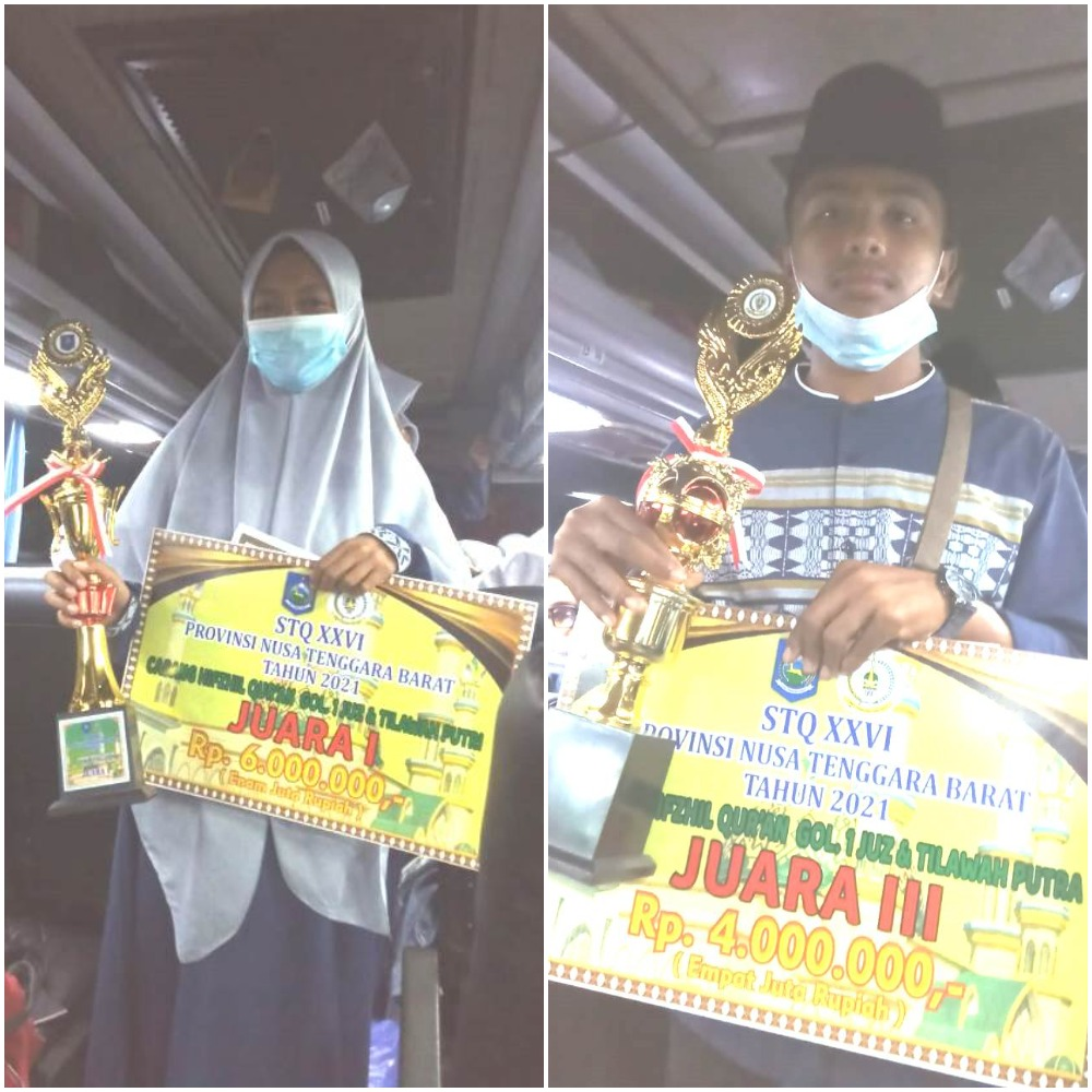 Siswa MAN 2 Kota Bima Juara 1 STQ tingkat Provinsi NTB Tahun 2021