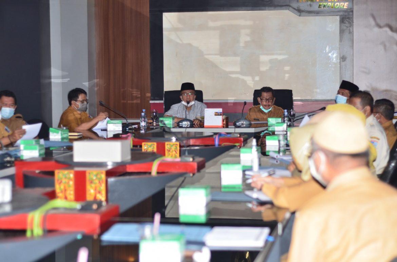 Bupati Fauzan Pimpin Rapat Pembahasan Tindak Lanjut Rekomendasi Hasil Pemeriksaan BPK RI