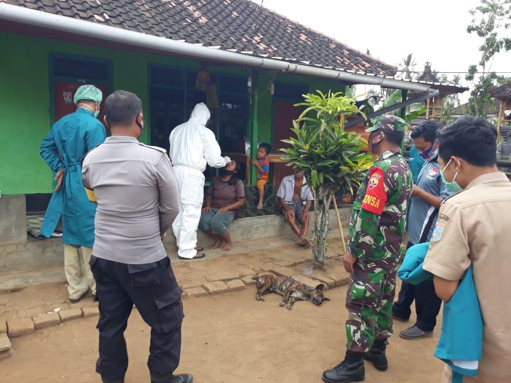 Telusuri Kontak Erat Dengan Pasien Covid-19, Empat Orang di Desa Kedaro Sekotong Dirapid