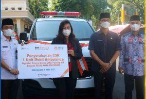 Wali Kota Mataram Launching Digitalisasi Layanan RSUD Kota Mataram dan Terima Hibah Ambulance dari Bank BNI 46