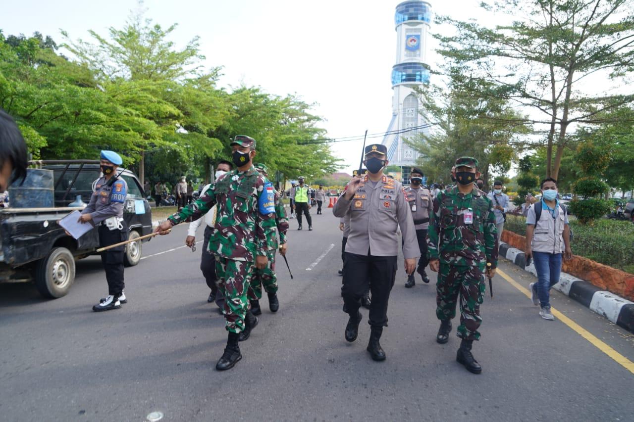 Pimpinan TNI Polri di NTB Cek Pelaksanaan PPKM Darurat Covid-19