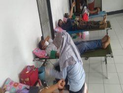 Donor Darah di Hultah Kemerdekaan, Hipelmas Sukarara Gandeng Pemerintah Desa dan Karang Taruna